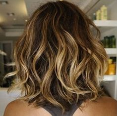 Nice highlights for medium length wavy hair