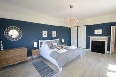Stiffkey Blue master bedroom