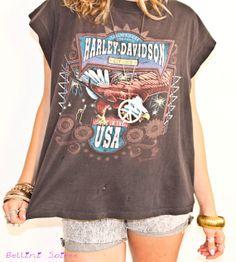 Harley Davidson Vintage Tee - lifestylerstore - http://www.lifestylerstore.com/harley-davidson-vintage-tee/