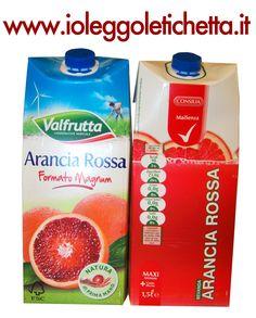 Bevande all'arancia Valfrutta e Consilia, identiche tranne nel prezzo
