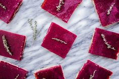 Beautiful Beet Lemon Bars from Fig+Bleu perfect for celebrating the passing of summer and the advent of fall!
