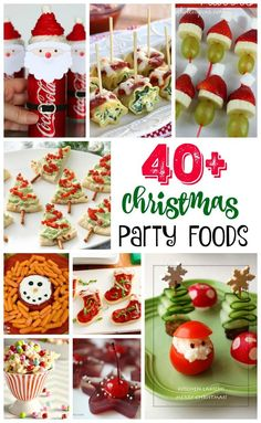 Find yummy and festive Christmas party food ideas for a delish holiday part. From cute Santa hotdog socks to sweet marshmallow pops,…