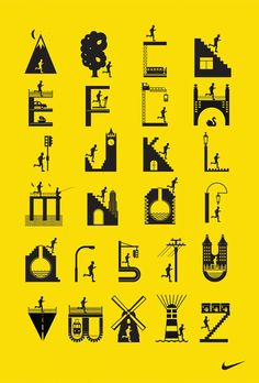 Pretty cool illustrated typography for Nike by I Love Dust.