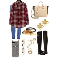 A fashion look from December 2014 featuring MICHAEL Michael Kors tops, True Religion jeans and Tory Burch boots. Browse and shop related looks.