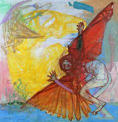 Bela Kondor - avant-garde painter and graphic artist Temptation Of St Anthony, Modern Art, Contemporary Art, Expressive Art, Dream Art, Hanging Art, Religious Art, Beautiful Artwork, Art Blog