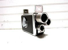 Vintage Camera Kodak Brownie Turret f/1.9 Multi-Lens 8mm Movie Camera 1950s