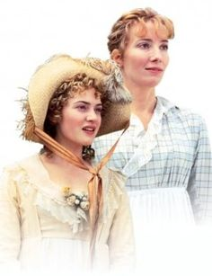 Sense and Sensibility by Jane Austen - Emma Thompson and Kate Winslet. Elizabeth Gaskell, Emma Thompson, Charlotte Bronte, Kate Winslet, Regency Fashion, Winchester, Jane Austen Movies, Ang Lee, Becoming Jane