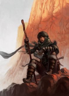 f Rogue Thief Leather Armor Staff Sword desert mountain ArtStation - Desert Vagabond, giorgio baroni Character Concept, Character Art, Concept Art, Character Aesthetic, Fantasy Story, Fantasy Art, Space Fantasy, Dark Fantasy, Fantasy Inspiration