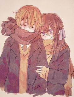 Anime Couples Drawings, Anime Couples Manga, Cute Anime Couples, Manga Anime, Anime Couples Hugging, Manga Girl, Anime Girls, Manga Couple, Anime Love Couple