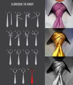 How to tie the Eldridge Tie knot - Eric always tied this knot on his ties! Or at least tried to.
