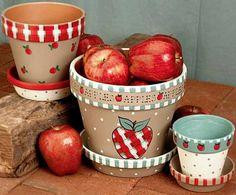 crafty apple clay pots