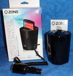 Zens Wireless in-Car Cupholder-Smart Wireless Charging & Adapter & instr    ME11 #Zens