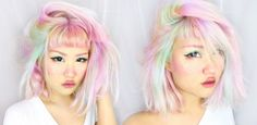 "michellemoe:  ""HOW I HIGHLIGHT MY HAIR PASTEL COLORS  """