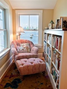 A little reading nook with a view of a seaside?What more could one want?
