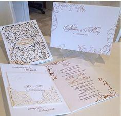Laser Cut Wedding Invitations Letterpress by luxuryweddinvitation