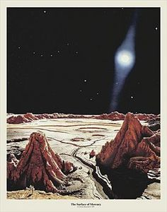 The Surface of Mercury, by Chesley Bonestell