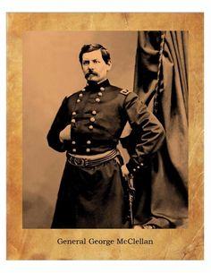 General George McClellan Civil War Union Army  8X10 Photo