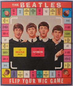 ☮ American Hippie The Beatles ~ Retro Monopoly game .. Milton Bradley, 1964