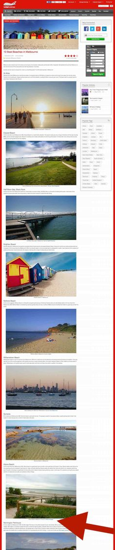 Webjet.com.au - 10 Best Beaches in Melbourne. Red Arrow, Beaches, Melbourne, Desktop Screenshot