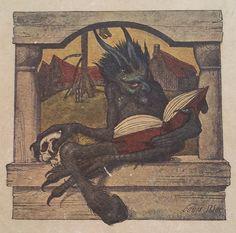 Illustration from a 1901 book called ''Middelelderlige Billeader'' by Kristofer Janson