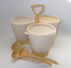Vintage Tupperware Condiment Caddy This was new when I was selling Tupperware.   MJ
