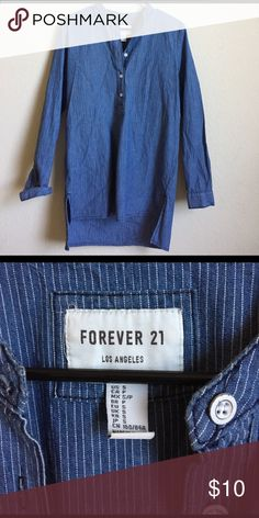 Blue pinstrip tunic Blue tunic Forever 21 Tops Tunics