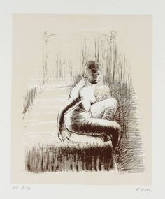 Seated Girl on Bed 1974 Henry Moore