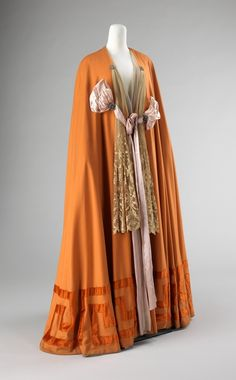 Capes are always stylish in my opinion. Regardless of the era. Evening Cape Jacques Doucet ca. 1900-1905 wool, silk, rhinestones