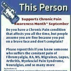 I support chronic pain awareness because I live with chronic pain. #staystrong #notalone