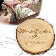 Baumscheibe mit Gravur zur Hochzeit - Personalisiert mit ... https://www.amazon.de/dp/B00LOBVWNI/ref=cm_sw_r_pi_dp_x_nI2Jyb390MC3F