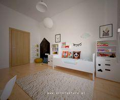 www.artefaktura.pl projektowanie wnętrz Kraków, architekt wnętrz  Projekt pokoju 1,5 rocznego chłopca  #pokojchlopca #bialypokoj #swing  #nordicstyle #nordic #design #boy #room #blackboardwall