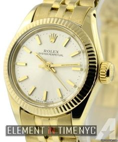 Rolex Oyster PerpetualLadies No Date 18k Yellow Gold Reference #: 6719