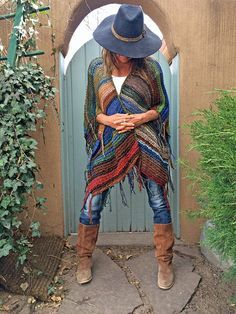 Popular LANGE HANDGESTRICKTER Womens B hmische Festival von poshbygosh Boho fashion Pinterest B hmisch Hippie Style und Festivals
