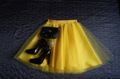 Yellow tulle skirt handmade classic bridesmaid wedding. Order by message or visit my shop https://www.facebook.com/cheremyha.store