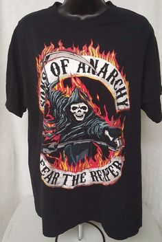 Sons of Anarchy Men's Sons of Anarchy Fear The Reaper T-Shirt Size L #SonsofAnarchy #GraphicTee