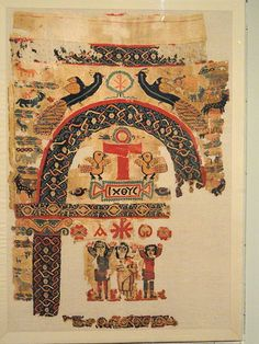 Hanging with Christian Images and Symbols, 500s AD, Egypt, Byzantine period, wool and linen - Cleveland Museum of Art