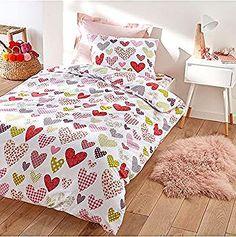 Happy Linen Company Couvre-lit r/éversible Motif Danseuses /étoiles Rose Enfant Couvre-lit