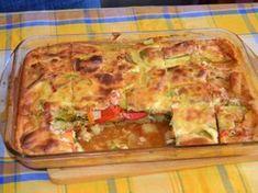 Φανταστικό σουφλέ με λαχανικα και μπεσαμελ    Υλικά    3 μελιτζάνες  3 κολοκύθια  3 καρότα  5 πατάτες  2 πιπεριές κόκκινες φλωρίνης  3 ντομάτες κομμένες (σάλτσα)  1/2 ματσάκι μαιντανό  1/2 ματσάκι άνηθο  αλάτι  πιπέρι  λίγο λάδι    Κρέμα μπεσαμέλ  2 φλιτζάνια του τσαγιού γάλα  6 κ.σ. αλεύρι  4 κ.σ. φυτικό βούτηρο  1 κουπάκι γιαούρτι  3 αβγά  αλάτι  πιπέρι    Δείτε την Quiche, Sweet Home, Vegetables, Cooking, Breakfast, Recipes, Food, Kitchen, Morning Coffee