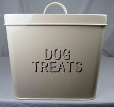 Cream Enamel Metal Dry Dog Treats Tin | Amazon.co.uk Garden  Outdoors | £13