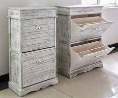 Mueble Zapatero Blanco Decape Albear