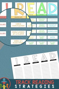 Reading Strategies Posters / Anchor Charts Incorporate these awesome posters into your classroom to remind kids of their reading strategies through the year.These posters can be used to: Reading Strategies Posters, Reading Resources, Reading Skills, Phonics Rules, Phonics Lessons, Primary Teaching, Teaching Phonics, Classroom Posters, Classroom Decor