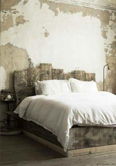 tip: leave an old wall just the way it is, it brings character and charm (make sure it's clean though :) )