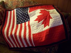 I need help finding a 'candian' maple leaf pattern. Flag Quilt, Quilt Blocks, F21, Craft Patterns, Quilt Patterns, Quilting Projects, Quilting Ideas, Sewing Projects, Diy Projects