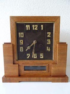 Junghans Antique German WW2 Shelf Mantel Art Deco Clock Hermle Kienzle Era   eBay