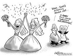Granlund cartoon: Gay marriage - News - seacoastonline.com ...  Gay Rights Cartoon