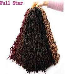 1-9パック24根のどlocカーリーかぎ針編みヘア20 'ソフトカーリーかぎ針編み三つ編みヘアエクステンション編みロック波状ドレッドヘア