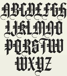 A terrific collection of 6 authentic Old English fonts. Each font includes full punctuation, numerals and accent characters. Tattoo Fonts Alphabet, Tattoo Lettering Fonts, Hand Lettering Alphabet, Calligraphy Alphabet, Lettering Styles, Calligraphy Fonts, Typography Letters, Lettering Design, Caligraphy