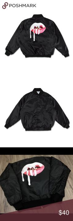 DO NOT BUY ISO Kylie Black Satin Bomber Jacket!! DO NOT BUY!! MAJOR IN SEARCH OF ONLY!! Kylie Jenner Shop Black Lips Satin Bomber Jacket:  •1 Kylie Black Bomber Jacket Size Small   10000000000000% AUTHENTIC, BRAND NEW, NEVER USED/NEVER SWATCHED!!!!!! LOOKING  FOR THE MOST REASONABLE PRICE POSSIBLE!!!!! 😊 Thank you!!!!! ❤️ Kylie Cosmetics Jackets & Coats