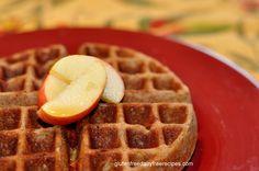 Gluten Free, Dairy Free, Apple Spice Waffles