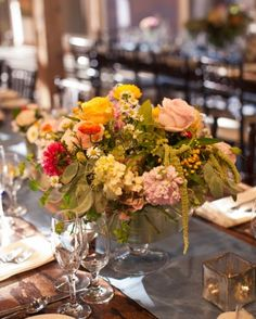 """See the """"The Centerpieces"""" in our A Romantic Rustic Barn Wedding in Wisconsin gallery"""